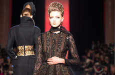 Fierce Feline-Printed Couture - Jean Paul Gaultier's F/W 2013 Collection Makes a Grand Statmen