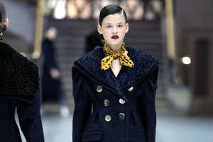 Polka Dots and Stripes Were Mixed Together at Miu Miu Ready to Wear Show