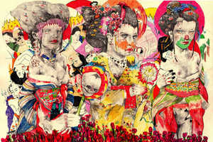 These Wildly Colorful Drawings Focus on Surreal Human Forms