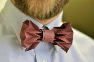 This Paper Bow Tie is Completely Disposable