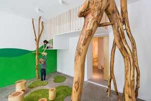 This German Kids School Design Has Trees and Textured Salt Walls