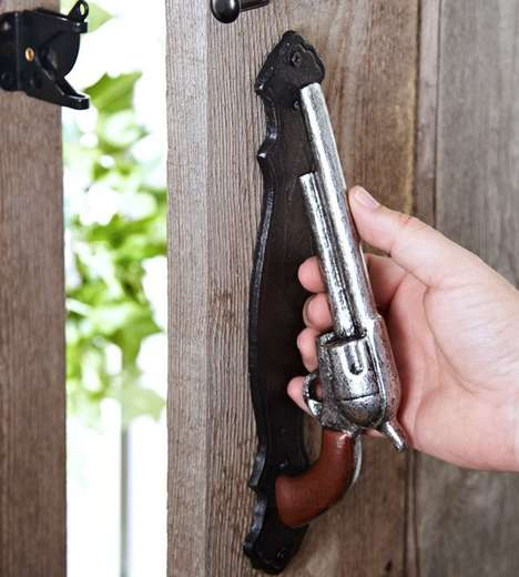 Vintage Pistol Door Handles - This Western-Inspired Hardware is Perfect for the Home or Backyard