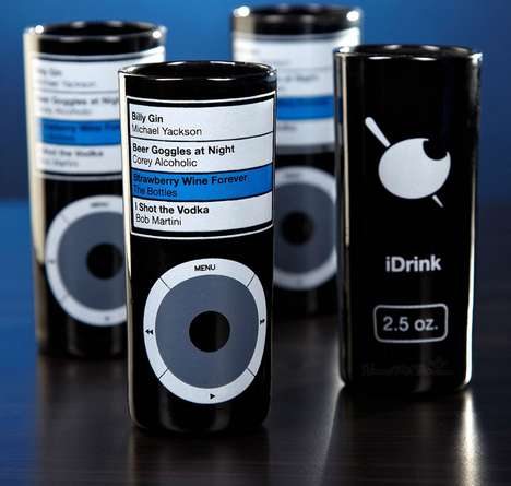 Clever Gadget Spoof Shooters - The iDrink Shot Glasses Play off of the Popular Apple Brand