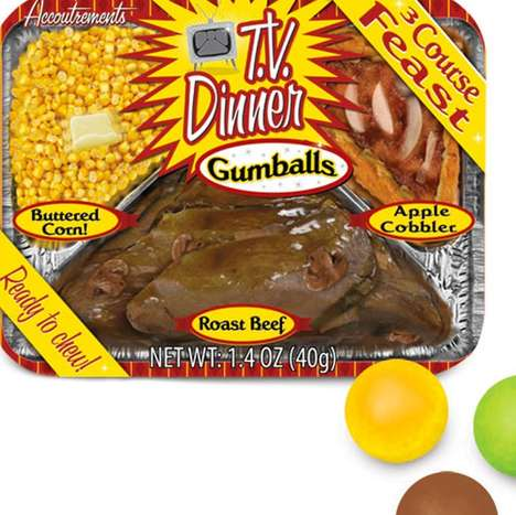 Tv Meal-Flavored Gumballs - This Chewing Gum Tastes Just Like Popular TV Dinners