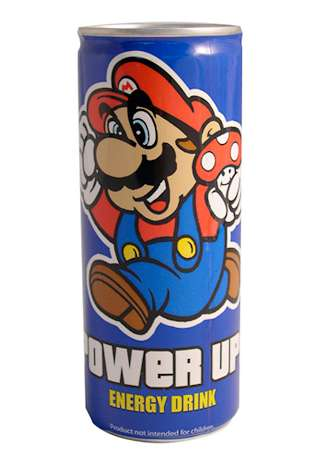 Retro Gamer Energy Drinks - These Super Mario Beverages Will Get You Up and On Your Toes