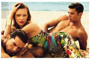 This Glamour Italia July 2013 Editorial is a Classy Menage a Trois