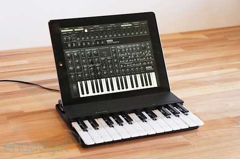 Pop-Up Piano Tablet Cases - The Miselu C.24 Music Keyboard is an Impressive Wireless Mini Piano