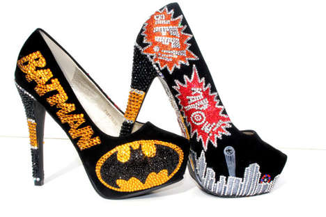Bedazzled Batman Pumps
