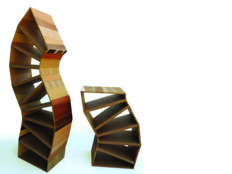 Remixed Reused Iconic Furniture - This Scrap Wood Furniture is Inspired by Design History