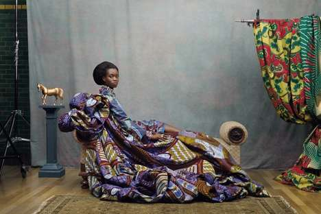 Regal Tribal Fabric Ads - Hommage a l'Art by Koen Hauser is Inspired by the African Culture