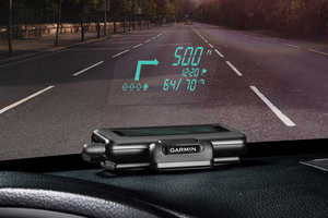 Garmin's Light Up Windshield Display Keeps the Focus on the