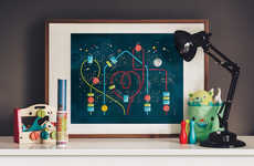 'Home is Where Your Heart is' is an Endearing Art Piece for Kids