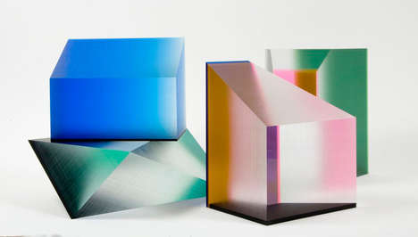 Geometric Lucite Sculptures - Artist Phillip Low Creates Visually Striking 3D Artworks