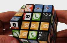 Intellectual App Brainteasers - The App Cube Puzzle Complexes the Player With Familiar Icons