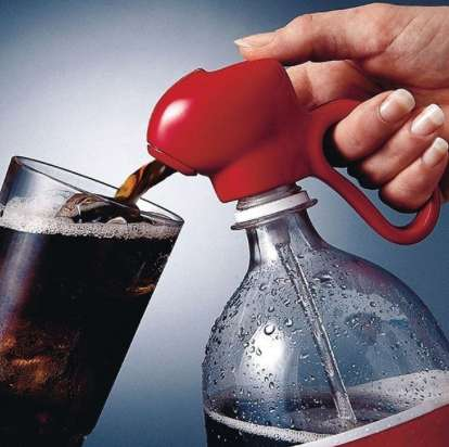 Simple Soda Streamers - The Fizz Keeper Soda Dispenser Stops a Bottle of Pop From Going Flat