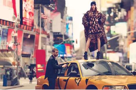 Urban Explorer Fashion Ads - The DKNY Fall 2013 Ad Campaign Stars an Edgy Cara Delevingne