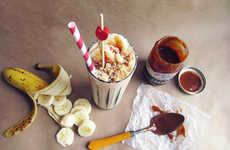 Decadent Pie-Infused Milkshakes - This Banoffee Pie Milkshake Turns the Classic Dessert into a Drink