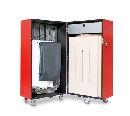 Changing Room Suitcases - A Suitcase That Folds Out into a Fully Equipped Room