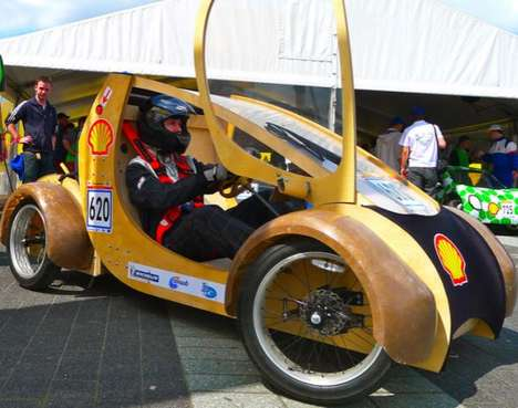 Cardboard Eco Racecars - This Hydrogen-Powered Cardboard Car is Uber-Sustainable