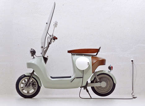 Bio-Based E-Scooters - The Be.e Scooter by Waarmakers is Made Almost Entirely Out of Plants