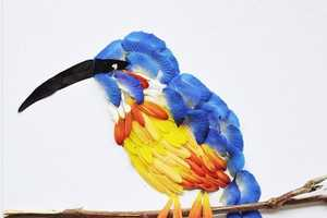 Hong Yi's Exotic Birds Were Made Entirely From Flower Petals