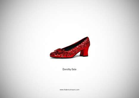 Iconic Footwear Poster Series (UPDATE) - This Series by Federico Mauro Depicts Famous Shoes