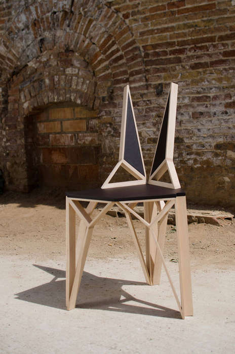 Rabbit-Eared Seating - The AlterEgo Chair by Albert Puig Boasts a Skeletal Geometric Frame