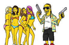Adrien Noterdaem Illustrates Fave Celeb Characters as 'Simpsons'