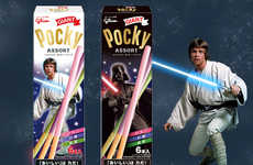 Galactic Chocolate Treats - These Star Wars-Themed Pocky Treats are Shaped Like Lightsabers