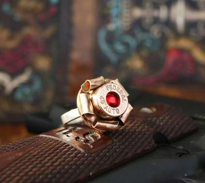 Altered Bullet Rings - These Seemingly Cute Accessories are Made from Real .45 Ammunition