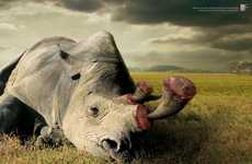 Brutal Wildlife Campaigns - These Wildlife Friend Foundation Thailand Ads Feature Grotesque Killing