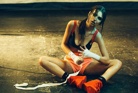 Sweaty Sports Arena Editorials - These Emily Ratajkowski Images for M2 Magazine are Super Sweaty