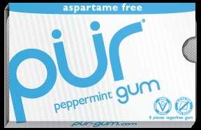 Aspartame-Free Gum - PUR GUM Keeps its Ingredients Healthy