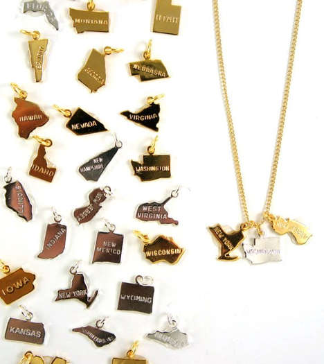 State Shaped Jewelry