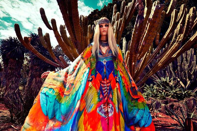 Vibrant Tribal-Inspired Fashion Ads