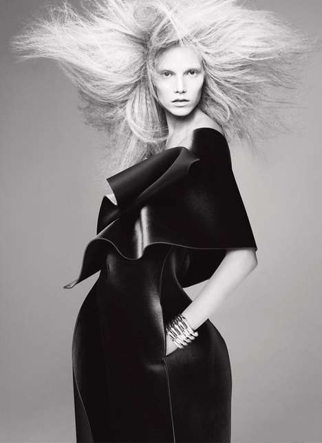 Hair-Raised Fashion Editorials - This V Magazine Editorial Showcases Black and White Authority
