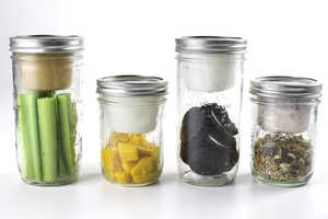 The BNTO Canning Jar Lunchbox Adaptor Easily Sections a Jar