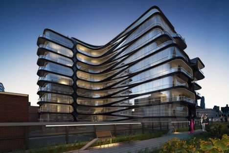 Chevron-Patterned Buildings - 520 West 28th Street is Zaha Hadid
