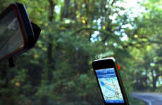 Suction Cup Smartphone Holders - The iPhone Windshield Mount Securely Holds the Device on the Glass