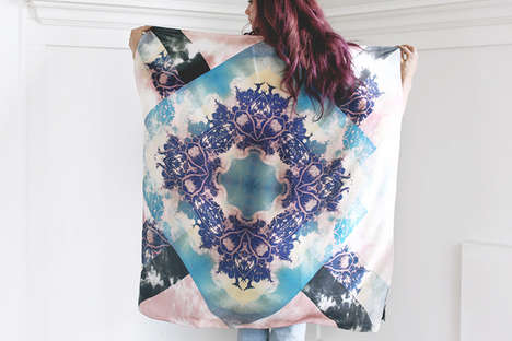 Psychedelic Hand-Dyed Scarves - These Chic Scarves by Scout & Catalogue are Handmade in Vancouver