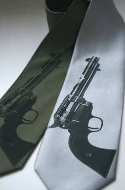 Deadly Dress Ties - Gun Goddess Presents Office-Wear with Attitude