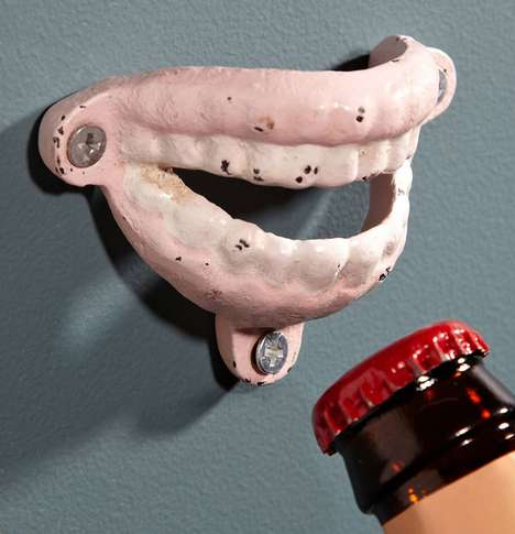 False Teeth Bottle Openers - These Wall Mounted Drinking Accessories Look Like a Set of Teeth