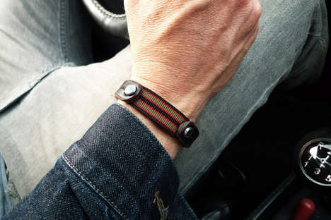 mens leather bracelet nato strap