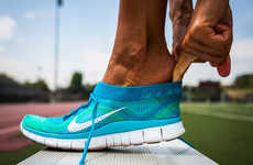 Sock-Like Sneakers - The Nike Free Flyknit Grips the Foot Like a Sock