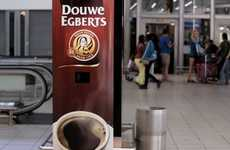 Yawn-Activated Vending Machines - Douwe Egberts' Coffee Machine is Clever Marketing