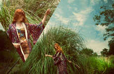 Lush Canyon Lookbooks - The Wasteland 'Mountain High' Catalog is Beautifully Bohemian