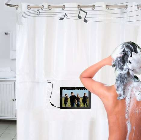 Music-Playing Home Decor - Jam Out in the Shower with a Techy Musical Curtain