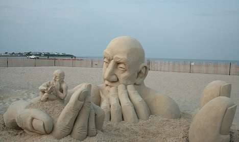 Man-Within-Man Sand Sculptures - Infinity by Carl Jara Depicts Surreal Human Figures