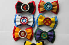 Cartoon Superhero Bows