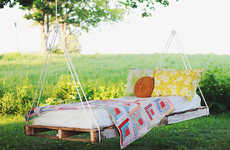 DIY Outdoor Swing Beds